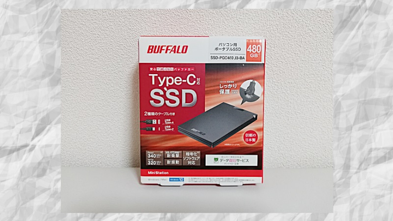 SSD-PGC480U3-BAレビュー
